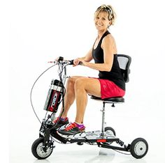 The eWheels is a lightweight airline approved folding scooter. Our fastest folding scooter - top speeds of 12 - 15 mph. Features a large padded seat with a backrest, cruise control, 3 speed settings, and front & rear disc brakes for easy stopping.