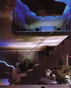 Vintage Interior Design codomy: I had a dream that I robbed a house just like this, and I had to shut the screaming children up by stuffing cotton balls in their mouths. 80s Interior Design, 1980s Interior, Interior Exterior, Exterior Design, Interior Architecture, Interior Decorating, Futuristic Interior, Art Deco, Casa Retro