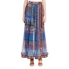 Etro Floral-Print Maxi Skirt ($3,910) ❤ liked on Polyvore featuring skirts, apparel & accessories, navy, long boho skirts, navy blue skirt, wrap maxi skirt, long navy blue skirt and long floral skirts