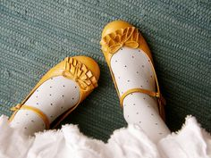 fancy mustard shoes