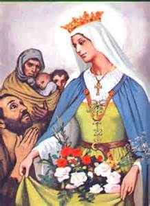 Elizabeth of Hungary, T.O.S.F., (1207 – 1231)  Elizabeth was the daughter of King Andrew II of Hungary and Gertrude of Merania.  Elizabeth was brought to the court of the rulers of Thuringia in central Germany, to... (Read the rest of her story here:) https://www.facebook.com/St.Eugene.OMI/photos/a.1490771924522168.1073741828.1490724774526883/1506590322940328/?type=1&theater