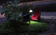 ..A mini-guerrilla garden with armchair, television and working light near the East London Mosque  Picture: Steve Wheen / Barcroft Media