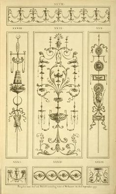 [Central ornamental design with birds, faces, and vegetal shapes.]