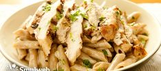 Try this delicious chargrilled chicken and spinach pasta salad recipe from 30 Day Fitness Challenges for your lunch today, it is super tasty and healthy! Spinach Pasta Recipes, Pasta Salad With Spinach, Chicken Pasta Recipes, Veggie Recipes, Healthy Eating Recipes, Easy Healthy Dinners, Cooking Recipes, Chargrilled Chicken, Chicken Spinach Pasta