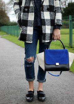 Bertie Monk Shoes, celine trapeze bag and Ripped Boyfriend Jeans #styleblog #fashionblog #styleinspo