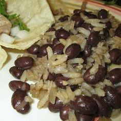 Black beans and rice--(3/4 cup rice)