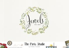 Watercolor Wreath Logo Design – The Paris Studio – Creative Logo Design Branding NYC – Paris