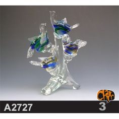 Size: 24x18.5x27.5cm     Material: Murano glass     Description:  All of our glass crafts are true hand blown. They are different from the other glass crafts which are made by machine. Our glass crafts are handicraft in its true sense. Our products are international certified, they are controled in the standard quality field. Now we have some stocks to sell,and the real products will look exactly the same as photos.