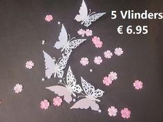 5 Witte Vlinders punt 6.95 www.th-schilderijen.nl