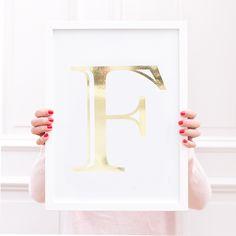 Artprint / Dein Goldener Buchstabe / A4 von Eulenschnitt auf DaWanda.com