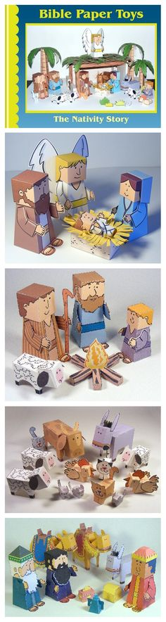 Bible paper toys