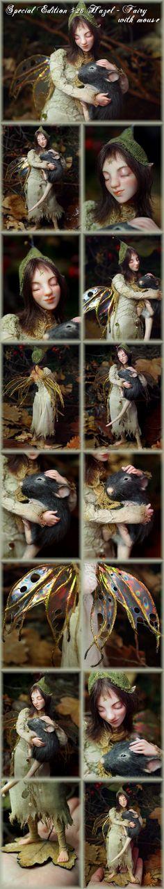 Nenúfar Blanco ~ Hazel - Fairy with mouse