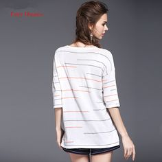 Fairy Dreams Women Knitted Tops Pull Femme Striped Black And White Sweater T shirt Pullover 2017 Summer Style Fashion Cothes