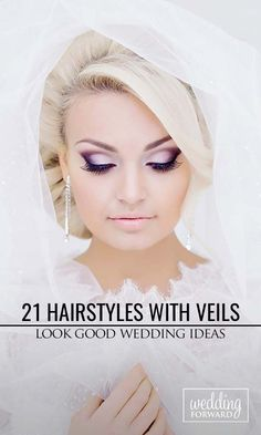 21 Wedding Hairstyles That Look Good With Veils ❤ Get wedding hairstyle inspirations that look amazing with a veil. See more: http://www.weddingforward.com/wedding-hairstyle-ideas-with-veils/ #wedding #bride #weddinghairstyle #veil
