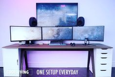 Tag a friend that need this setup!! --- #html #css #computerscience #coding #code #programming #setup #desktop #battlestation #programmer #jokesfornerds #nerdjokes #codingproblems #codehumor #codingquotes #html5 #desktopsetup #javascript #webdeveloper #webdesign #deskgoals #officeinspo #interiorinspo #deskenvy #workspacestyling #officeenvy #minimal #officeinspiration #workspaceinspo #minimalsetups