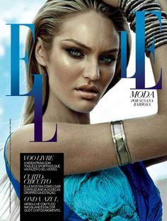 Candice Swanepoel photographed by Dudu Resende for the cover shoot of the fashion magazine Elle Brazil for their September 2012 issue