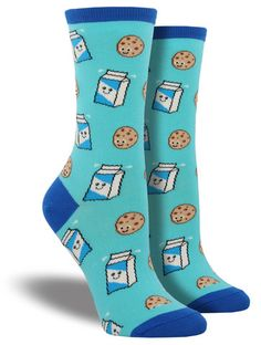 Ah, dunk it. Ah, dunk it. D-dunk it real good! Bringing together your two favorite things since Starbucks combined pumpkin spice and lattes, these cookie and milk socks will satisfy your sweet tooth.