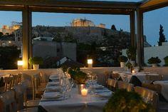 View from Strofi restaurant