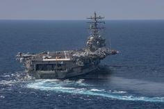 Flight Wings, Uss Ronald Reagan, Carrier Strike Group, Flight Deck, Aircraft Carrier, Ship, Ships
