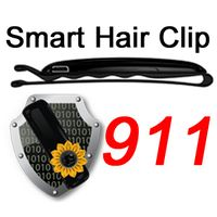 First Sign Hair Clip: The first automatic security system against violent crimes.   First Sign Technologies combines a hair clip with a mobile application to automatically call for help and collect evidence at the first sign of an emergency.