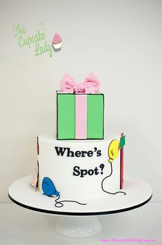 """Where's Spot? This was my favorite book when I was little Big Cakes, Fancy Cakes, 1st Bday Cake, Birthday Cakes, 2nd Birthday, Birthday Ideas, Beautiful Cakes, Amazing Cakes, Dr Suess Cakes"