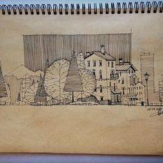 #architecture #archisketch #archsketch #sketch #sketchbook #draw #ink #arqsketch #yard #fastsketch