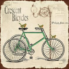 Cresent Bicycles Digital Art by Jean Plout