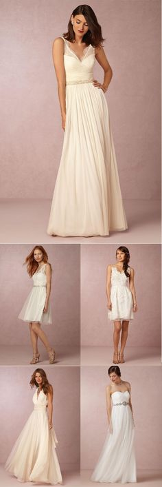 5 Ivory Bridesmaid Dresses that would also make beautiful  budget friendly wedding dresses