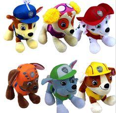 20 센치메터 개 순찰 개 장난감 러시아어 애니메이션 인형 액션 피규어 자동차 순찰 강아지 장난감 Patrulla Canina Juguetes 선물 아이