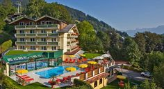 Hotel Berner Zell am See Hotel Berner is located right at the main ski slope of Zell am See, next to the cable car and the chair lift, so you can ski right from and to the hotel's front door. It features a spa area with a heated outdoor pool. Ski Slopes, Best Rated, Outdoor Pool, Skiing, Travel Destinations, Spa, Mansions, House Styles, Luxury Hotels