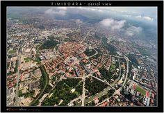 Aerial view of Timisoara - Romania Timisoara Romania, Aerial View, City Photo, Scenery, Skyline, Community, Sunset, Landscape, Country