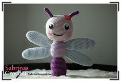 Sabrina's Crochet - Free crochet pattern Dragonfly (Dutch, English, Spaans), amigurumi, stuffed toy, #haken, gratis patroon, Nederlands, vlinder, knuffel, speelgoed, #haakpatroon, baby, rammelaar, #haakpatroon