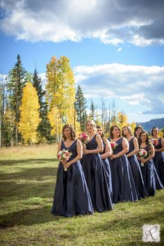bridal party photography // photo by Allison Ragsdale Photography in Durango, Colorado.