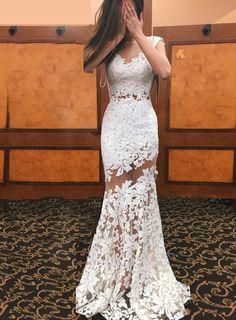 modabridal.co.uk SUPPLIES Tailormade Elegant Embroidery Scoop Floor-Length Zipper-Up Sleeveless Wedding Dress Best Wedding Dresses