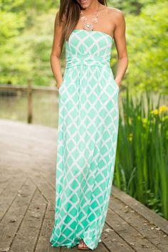 Plaid Print Strapless Maxi Dress AZURE: Maxi Dresses | ZAFUL