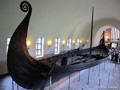 one thousand year old ship in Norway museum!!