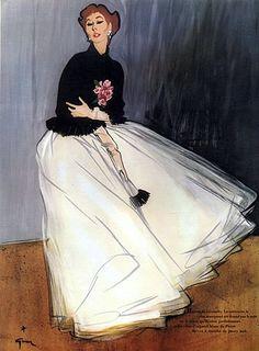 Givenchy by René Gruau, 1952
