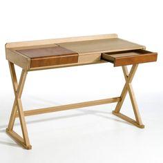 BRIXTON E. Gallina Oak and Leather Desk