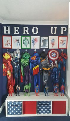 kids room ideas for boys superhero Toy Rooms Boys Ideas Kids Room Superhero Boys Superhero Bedroom, Boys Bedroom Decor, Superhero Kids, Superhero Room Decor, Little Boy Bedroom Ideas, Superhero Dress Up, Big Boy Bedrooms, Boys Superhero Costumes, Colors For Boys Bedroom