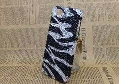 Zebra  Pearl case  Handmade Fashion case  iphone 5 by dnnayding, $33.99
