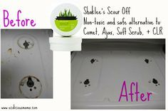 Natural Scouring Paste - Shaklee Scour Off #scouroff #naturalclean www.ecoliciousmama.com