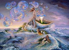"Sea Witch: #Sea #Witch ~ ""Bubble Power,"" by Josephine Wall."