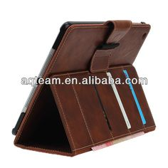 For ipad air multiple function stand card slot pu leather tablet case with angle display $0.1~$6.0
