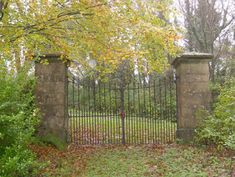 One of the gateways to the The Hall estate, Mountcharles, County Donegal - Buildings of Ireland Gates And Railings, Boundary Walls, Wrought Iron Gates, Donegal, Maine House, Countryside, Entrance, Ireland, Irish