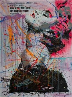 Pink Madonna, by Fonseca Mexican Artists, Artist Profile, Mixed Media Canvas, Madonna, Nyc, Celebrity, Fine Art, Contemporary, Gallery