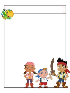 """Jake and the Neverland Pirates with title box - Project Life Disney Journal Card - Scrapbooking. ~~~~~~~~~ Size: 3x4"""" @ 300 dpi. This card is **Personal use only - NOT for sale/resale** Logos/clipart belong to Disney. ***Click through to photobucket to see this this card with lots of different characters***"""