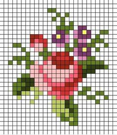 41 Ideas For Embroidery Patterns Small Flowers Small Cross Stitch, Cross Stitch Cards, Cross Stitch Rose, Cross Stitch Flowers, Counted Cross Stitch Patterns, Cross Stitch Designs, Cross Stitching, Cross Stitch Embroidery, Hand Embroidery