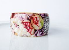 Unique Wooden Bangle Decoupage by UniquelyUJewellery on Etsy, £30.00