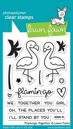 Lawn Fawn - Flamingo Together Stamp Set