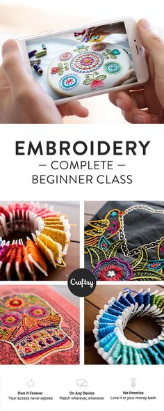 Beginner embroidery lessons